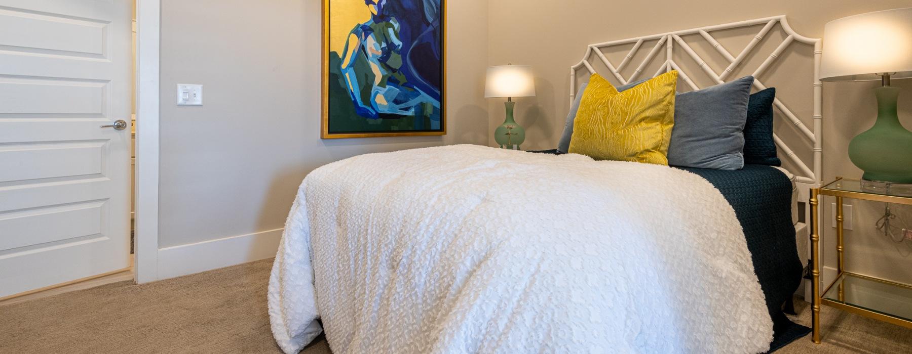 Spacious floor plans at Carraway Village Apartments in Chapel Hill, North Carolina
